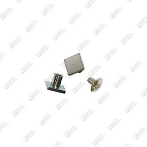 2352/5-E SQUARE TWIN SCREW 8 BRASS WITH MALE IRON
