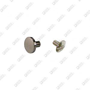 2614/E TWIN SCREW BRASS FLAT HEAD WITH MALE IRON