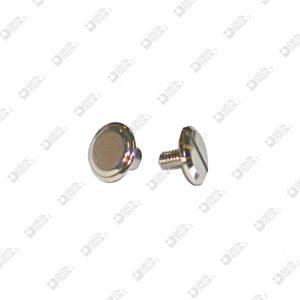 3165 TWIN SCREW HEAD D. 9 BRASS