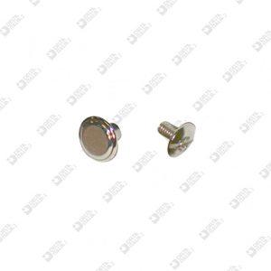 3165/E TWIN SCREW BRASS WITH STRIPE MALE IRON