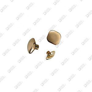3195 TWIN SCREW ROUNDED SQUARED HEAD 10 BRASS