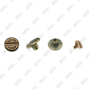 "3349 ROUND SCREW D. 12 PERSONALIZED "" LONG JUMP "" ZAMAK"