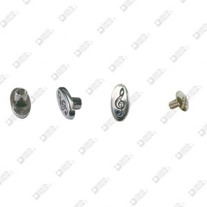"8105 OVAL PERSONALIZED SCREW ""VIOLIN KEY"" ZAMAK"