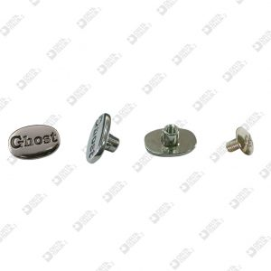 "9327 OVAL PERSONALIZED SCREW ""GHOST"" ZAMAK"