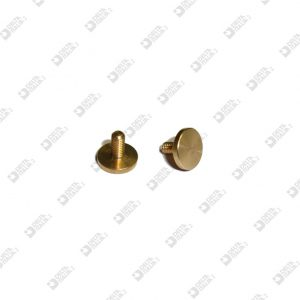 64079/ 6 SCREW D. 9 FLAT HEAD NO CUT M 3X 6 BRASS