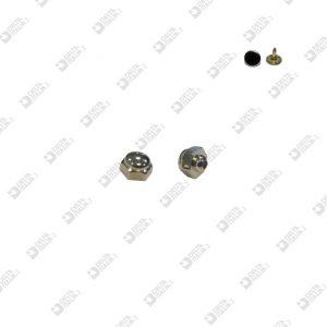 11101/10 HEXAGONAL ORNAMENT MM. 10 FOR NAIL 10793 ZAMAK