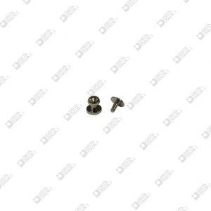 11586/P POMOLO 7X7 SF. 5,5 A PRESSIONE OTTONE