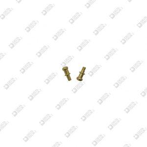64783/10 POMOLO PER FIBBIA 4,3X10 M 2,5X2,5 OTTONE