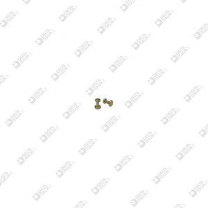 65297 POMOLO PER FIBBIA 3X 4,5 SF. 2,6 OTTONE