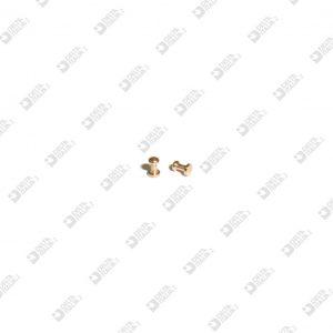 65297 POMOLO PER FIBBIA 3X4,5 SF. 2,6 OTTONE