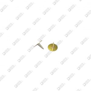 11025 NAIL MM. 9 WITH WELDED DISC MM. 10 BRASS