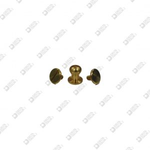 9518 CHALICE STUD 10X10,5 SF. 8+SCREW 9518-M BRASS