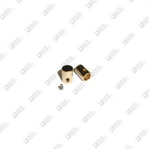 11684 CAPOCORDA 8X12 FORO 6 FILETTO M 3  OTTONE