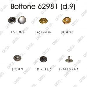 62981 PRESSION BUTTON D.9 BRASS