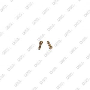 65167W00 POMOLO PER FIBBIA 4X10 GAMBO D. 2,5 ECOBRASS